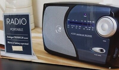 Portable Radio with AM, FM & LW powder and battery operated