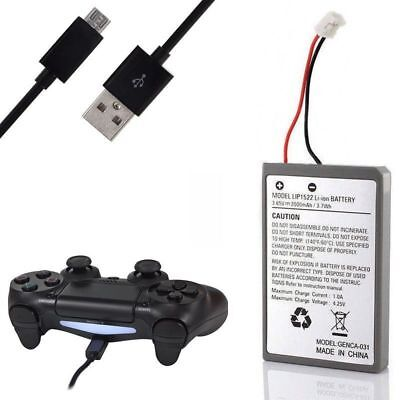 Akku Battery Batterie für Sony PS4 Wireless Controller 2000mAh inkl. 3m Kabel
