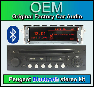 Peugeot 207 Bluetooth stereo, Peugeot AUX USB radio, Display Screen, Microphone
