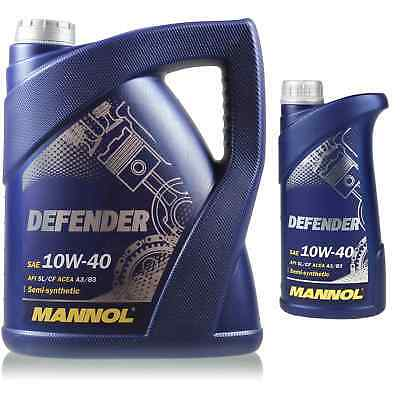 6 Liter Original MANNOL Motoröl Defender 10W-40 Engine Oil Öl 11192459