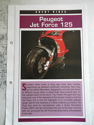 PEUGEOT JET FORCE 125 collector file fact sheet.