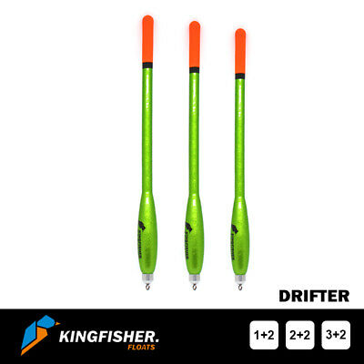 "WAGGLER FISHING FLOATS The Kingfisher ""Drifter"" Pack of 3 HIGH QUALITY"