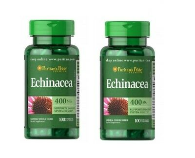 Echinacea STRONG 400 mg  200 Capsules Healthy Immune System
