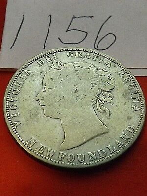 1881 50 cents silver Newfoundland, Scarce coin, low mintage