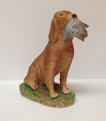 Brown Hand Crafted Porcelain Irish Setter Figurine