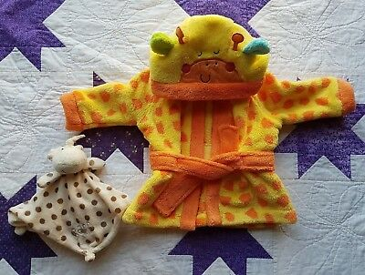 Isabella's Toy Box Mothercare Unisex 0-3 Month Giraffe Dressing Gown with ears