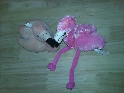 Pink Flamingo Mini Plush Stuffed Animal Aurora K & M set of 2