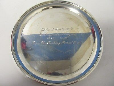 """Vintage Sterling Silver 10""""  Plate - Charger -Tray- S. Kirk & Son 4110"""