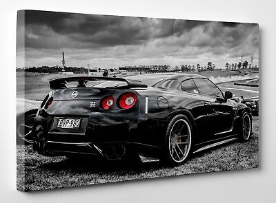 Nissan Skyline GTR R35 Sport Car Canvas Print Wall Art Framed Ready To Hang