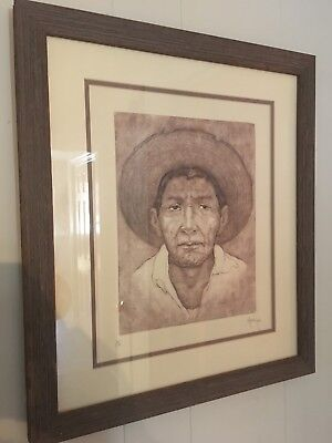 Original Limited Edition Hand Pull Signed Lithograph Ricardo Leon Mexican Artist