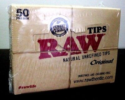 Raw Original Tips 50 Packs~2,500 Total~Factory Sealed~Raw Distributor