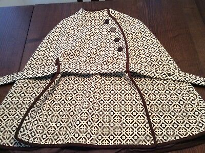 "50-56:  1950s 1960s Welsh Woollens Cape Tapestry ""Eclipse"" Tailored Wool"