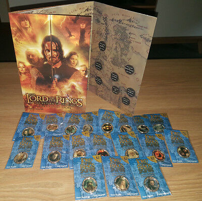 Lord of the Rings 18 Pin Collection Complete Set With Album Rare Exclusive Lot