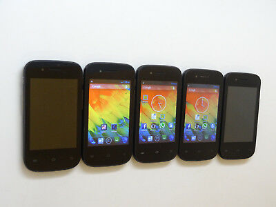 Lot of 5 Logic X1 Smartphones All Power On With Good LCD AS-IS