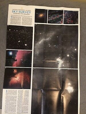 1983 National Geographic Journey Into The Universe Through Time & Space Poster