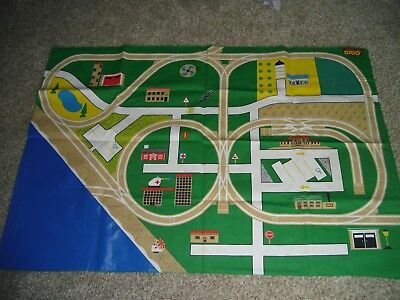 "Brio Vintage Wooden Railway Train Toys Rare Play Mat 35650 40""x60"" Double Sided"