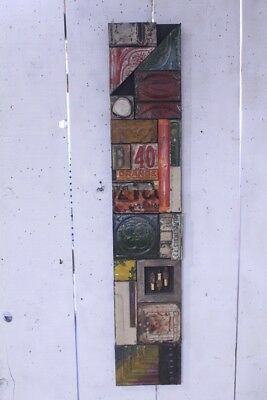 "48"" Decorative Wall Art with Licence Plate and Old Spark Plug by Lori Daniels"