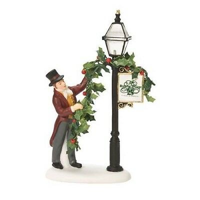 Dept.56 Dickens Village DECORATING THE LAMP POST