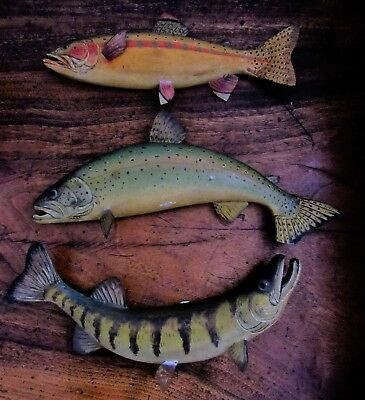 Vintage Fish Carving/decoys By R.g.jansson Of  Cape Cod; Beautiful Work; X-Rare!