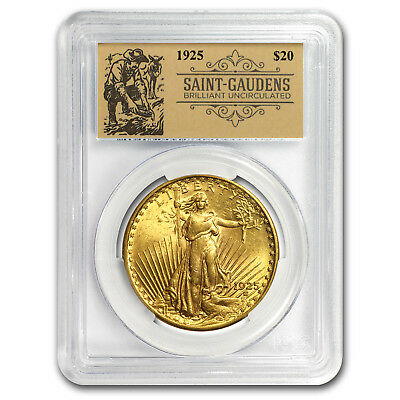 1925 $20 Saint-Gaudens Double Eagle BU PCGS (Prospector Label) - SKU#151077