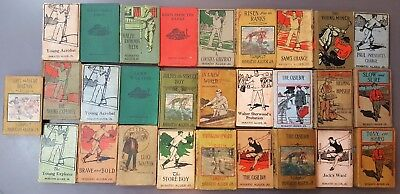 Lot Of Antique Books By Horatio Alger Jr. Publisher Donohue