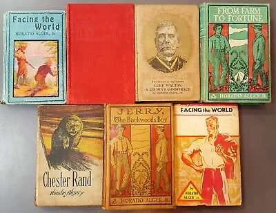 Lot Of Antique Books By Horatio Alger Jr. Assorted Publishers