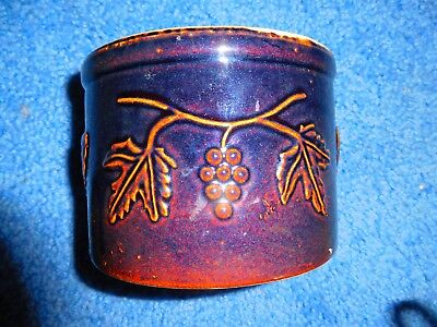 Old brown pottery stoneware crock