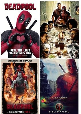 Deadpool Movie Poster A4 Size Buy 2 Get 1 Free 1 49 Picclick Uk