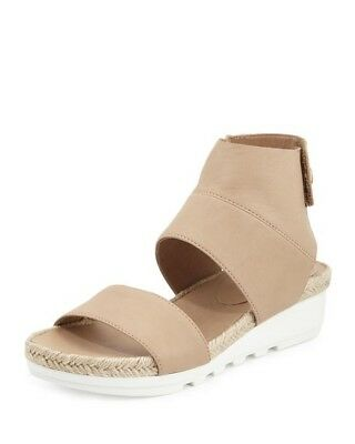 59cc05697073 EILEEN FISHER GLAD Women Open Toe Leather Tan Gladiator Sandal Size ...