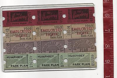 Vintage Lot tickets Euclid Beach Park Cleveland Ohio HUMPHREY Plan FREE SHIPPING