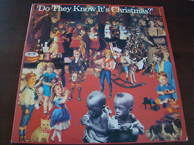 Vintage 80s Vinyl Holiday LP - Band Aid - Do They Know it's Christmas  61815