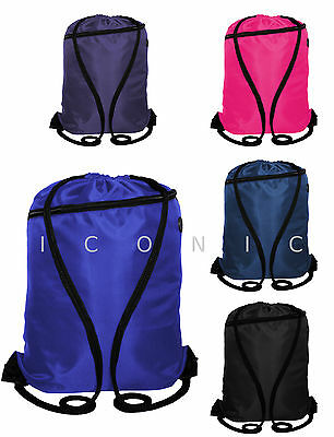 Strong Drawstring Gym Bag, School PE sack, Sports backpack or Swimming rucksack