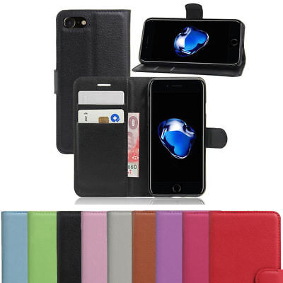 Rich Leather Wallet Book Magnetic Flip Phone Case Cover For Apple iPhone 8 Plus