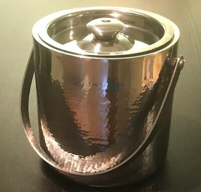 Ice Bucket Handcraft Stainless Steel Double walls, by Godinger , Never Used