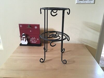 Longaberger Wrought Iron 2-Tier Coffee Stand W/O Mugs. Brand new.