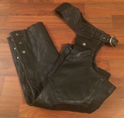 Men's HARLEY-DAVIDSON Leather Chaps size Small (Regular)