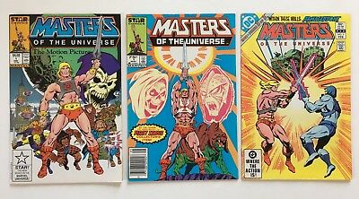 Masters Of The Universe He-Man Comic Lot Star Marvel Motion Picture