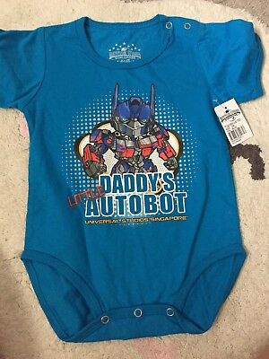 BNWT Baby Boy Transformers Universal Studios Short Sleeve Once Piece Size 6-12M