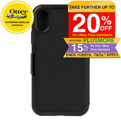 Otterbox Strada Folio Case/Cover/Protector Card Slot for iPhone X Black