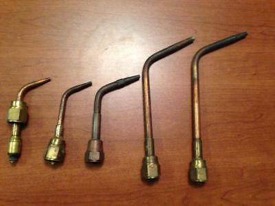 Set of 5 - VICTOR TORCH TIPS   - 2nd of 2 Listings