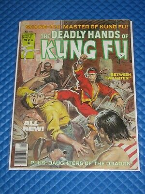 Deadly Hands of Kung Fu #33 Claremont Story 8.0/8.5 Drugs & Nudity Last (1977)