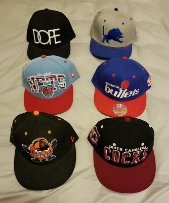MITCHELL AND NESS NEW ERA ZEPHYR Used Snapback Hats Worn Hats