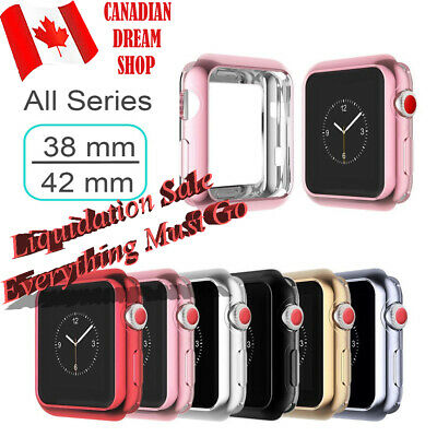 Soft TPU Case Cover hollowed protector For Apple Watch Series 3 2 1 38 mm 42 MM