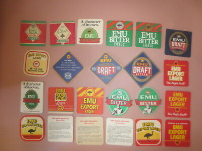 23 different EMU BREWERY,Western Australia  Issue BEER Coasters