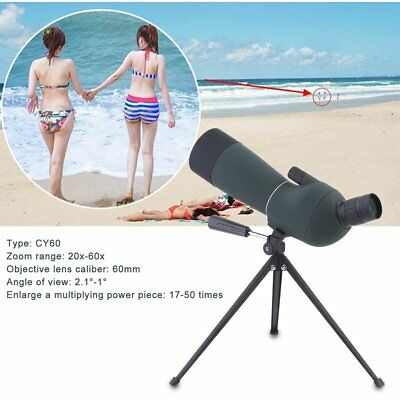 20-60x60 Zoom High Quality Precision Spotting Scope Telescope Tripod
