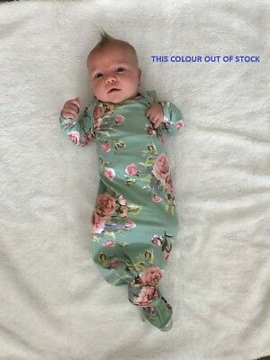 Baby Sleep Suit - Knotted Gown, Sleeping Bag, Nightwear, Newborn to 3 months