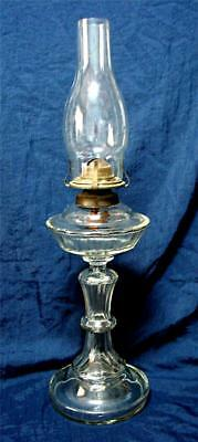 Antique ARTCRAFT Australia pressed glass banquet lamp Depression era