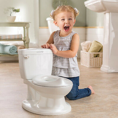 Realistic Toilet Summer Infant My Size Potty With Flush Sound Easy Clean White