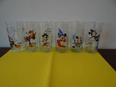 Disneyland paris 6 verres orangeade transparents