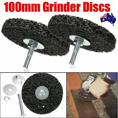 2X 4'' 100mm Abrasive Stripping Disc Wheel Rust Paint Removal For Angle Grinder
